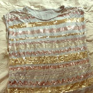 Cold water creek size small sequin shirt
